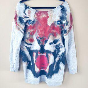 Zara W&B Collection Tiger Sweatshirt Size M